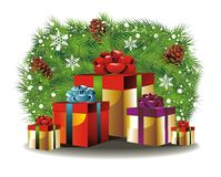 Christmas background with presents Royalty Free Stock Images
