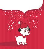 Christmas Background With Puppy Royalty Free Stock Photography