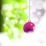 Christmas background. With purple ball Stock Photography