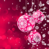 Christmas background with the purple balls. EPS 8 Stock Photos