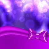 Christmas background with purple bow Stock Images
