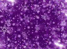 Christmas background. Christmas  background purple  with snowflakes Stock Photo