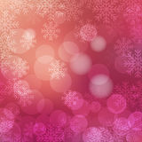 Christmas background purple. Christmas background with snowflakes and shiny bokeh lights. Vector design for Merry Christmas and Happy New Year party flyers Stock Image