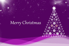 Christmas background purple. Christmas background with Christmas tree Stock Photography