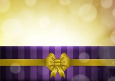 Christmas background with purple and yellow vector Stock Image