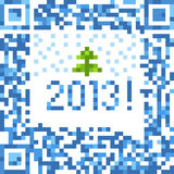 Christmas background of qr-code Royalty Free Stock Photos