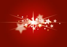 Christmas Background red. Red christmas background with stars Stock Photo