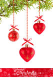 Christmas background with red balloons Royalty Free Stock Image