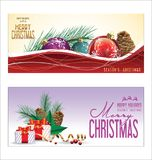 Christmas background red balls with decorations. Illustration stock illustration