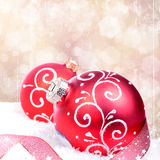 Christmas background with red balls Stock Images