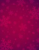 Christmas background with red blurred snowflakes royalty free stock images