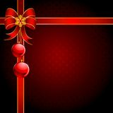 Christmas background with red bow Stock Image