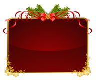 Christmas background with red bow Stock Photo