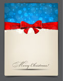 Christmas background with red bow. Stock Photo