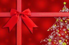 Christmas background with Red Bow. Royalty Free Stock Photos
