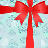 Christmas background with a red bow. eps10 Stock Image