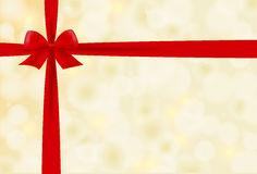 Christmas background with red bow  Royalty Free Stock Images