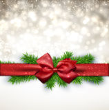 Christmas background with red bow. Stock Photography