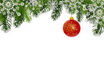 Christmas background with red Christmas ball Royalty Free Stock Photos