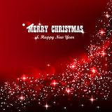 Christmas background in red color Stock Images