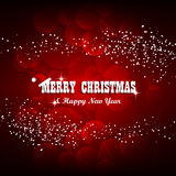 Christmas background in red color Royalty Free Stock Images