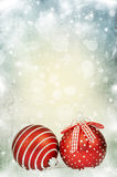 Christmas background with red decorations Stock Image