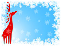 Reindeer Christmas Background. With red deer vector vector illustration