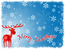 Reindeer Christmas Background Royalty Free Stock Photography