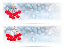 Christmas background with red gift ribbon with gif Stock Photography