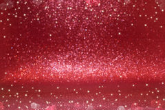 Christmas background. Red glitter bokeh Royalty Free Stock Image