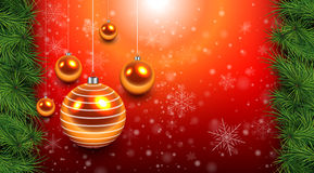 Christmas background red Royalty Free Stock Image