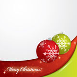 Christmas background - red and green colors Royalty Free Stock Images