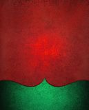 Christmas background in red with green elegant curved border design Royalty Free Stock Photo