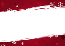 Christmas background in red grunge colors Stock Image