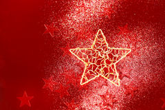 Christmas background with red little stars Royalty Free Stock Photos