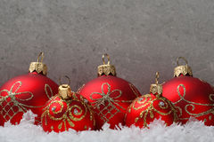 Christmas background with red ornament Stock Photo