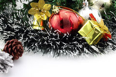 Christmas background with a red ornament Stock Photography