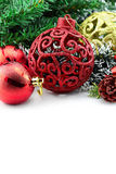 Christmas background with a red ornament Stock Image