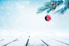 Christmas background with red ornament stock photos