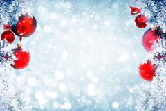 Christmas background falling snow Royalty Free Stock Image