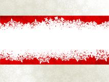 Christmas background with a red ribbon. EPS 10 Stock Photography