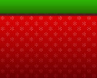 Christmas background red and ribbon green Stock Photo