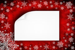 Christmas background. Red christmas background with snowflakes Royalty Free Stock Photography