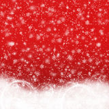 Christmas background. Red with snowflakes Royalty Free Stock Images