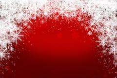 Christmas background. Red Christmas background with snowflakes Royalty Free Stock Photos