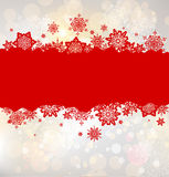 Christmas background with red snowflakes. With place for text Royalty Free Stock Photography