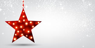 Christmas background with red star. Festive Christmas background with red star. Vector illustration Royalty Free Stock Photography