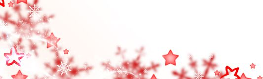 Christmas background, red stars and snow crystals royalty free illustration