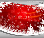 Christmas background in red & text Stock Image