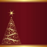 Christmas background. Red background with christmas tree Royalty Free Stock Photos